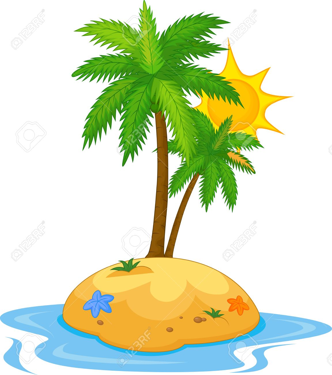 tropical island cartoon royalty free cliparts vectors and stock rh 123rf com tropical island clipart black and white tropical island clipart black and white