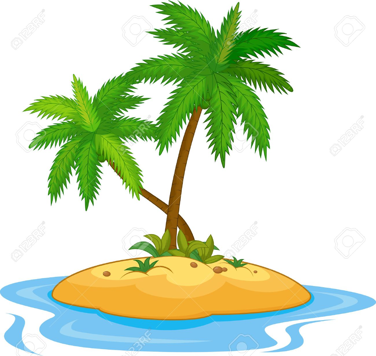 tropical island cartoon royalty free cliparts vectors and stock rh 123rf com tropical island clipart black and white