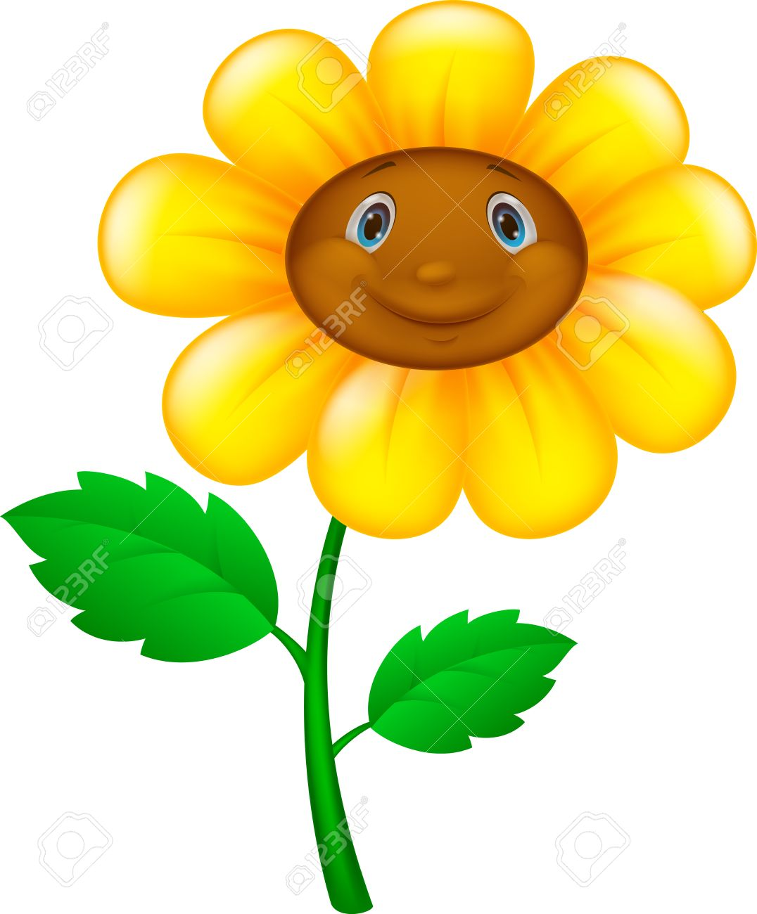 Cartoon Flower With Face Royalty Free Cliparts Vectors And Stock Illustration Image 27649644