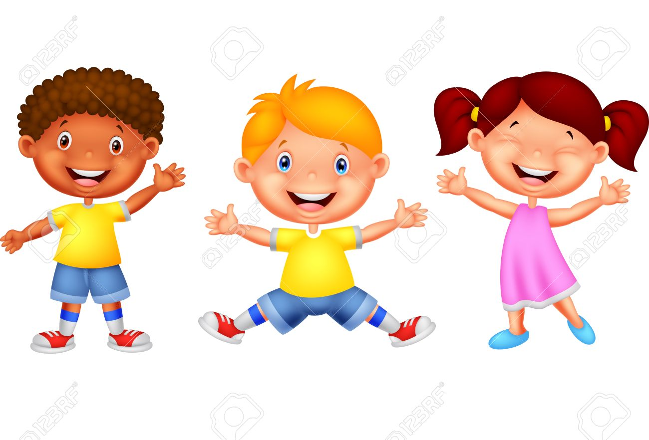 happy kid cartoon royalty free cliparts vectors and stock rh 123rf com happy kids clip art pictures happy kid clipart black and white