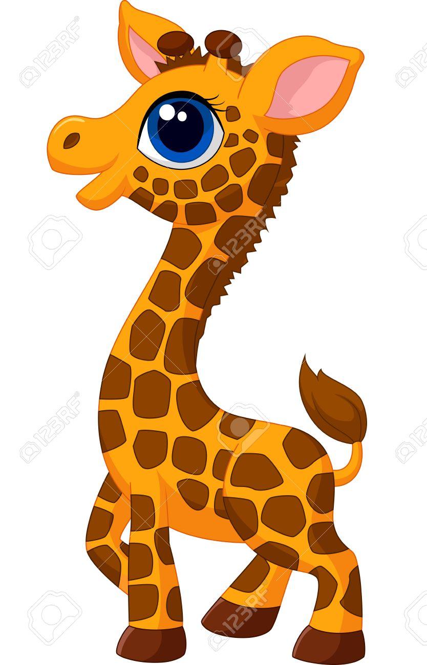 cute baby giraffe cartoon royalty free cliparts vectors and stock rh 123rf com cute cartoon baby giraffe pictures cartoon baby giraffe images
