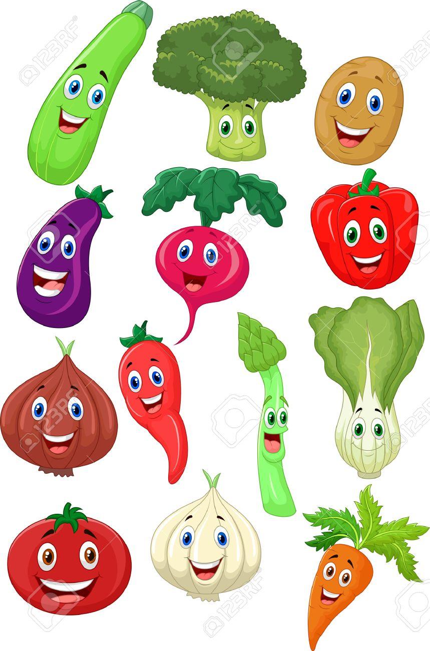 かわいい野菜の漫画のキャラクター ロイヤリティフリークリップアート