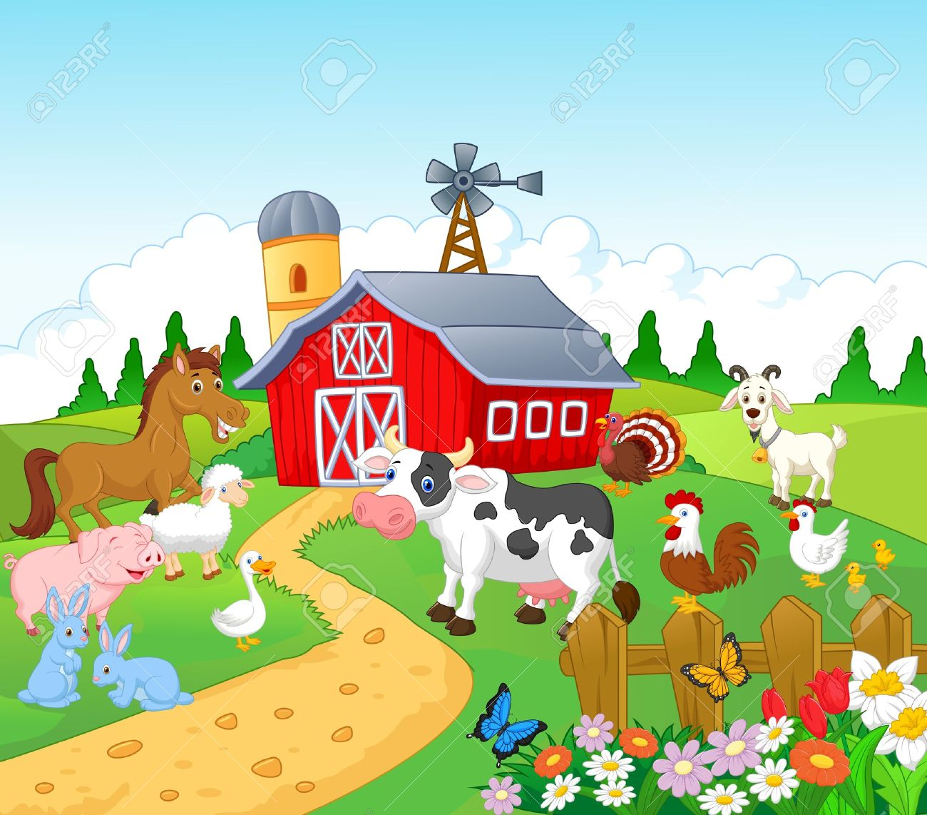 farm cartoon stock photos pictures royalty free farm cartoon