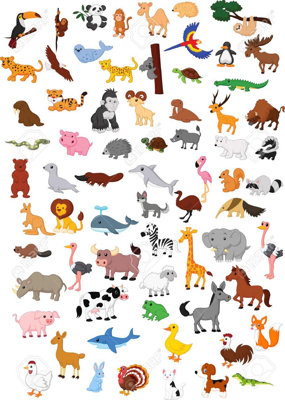 Big animal cartoon set - 27657376