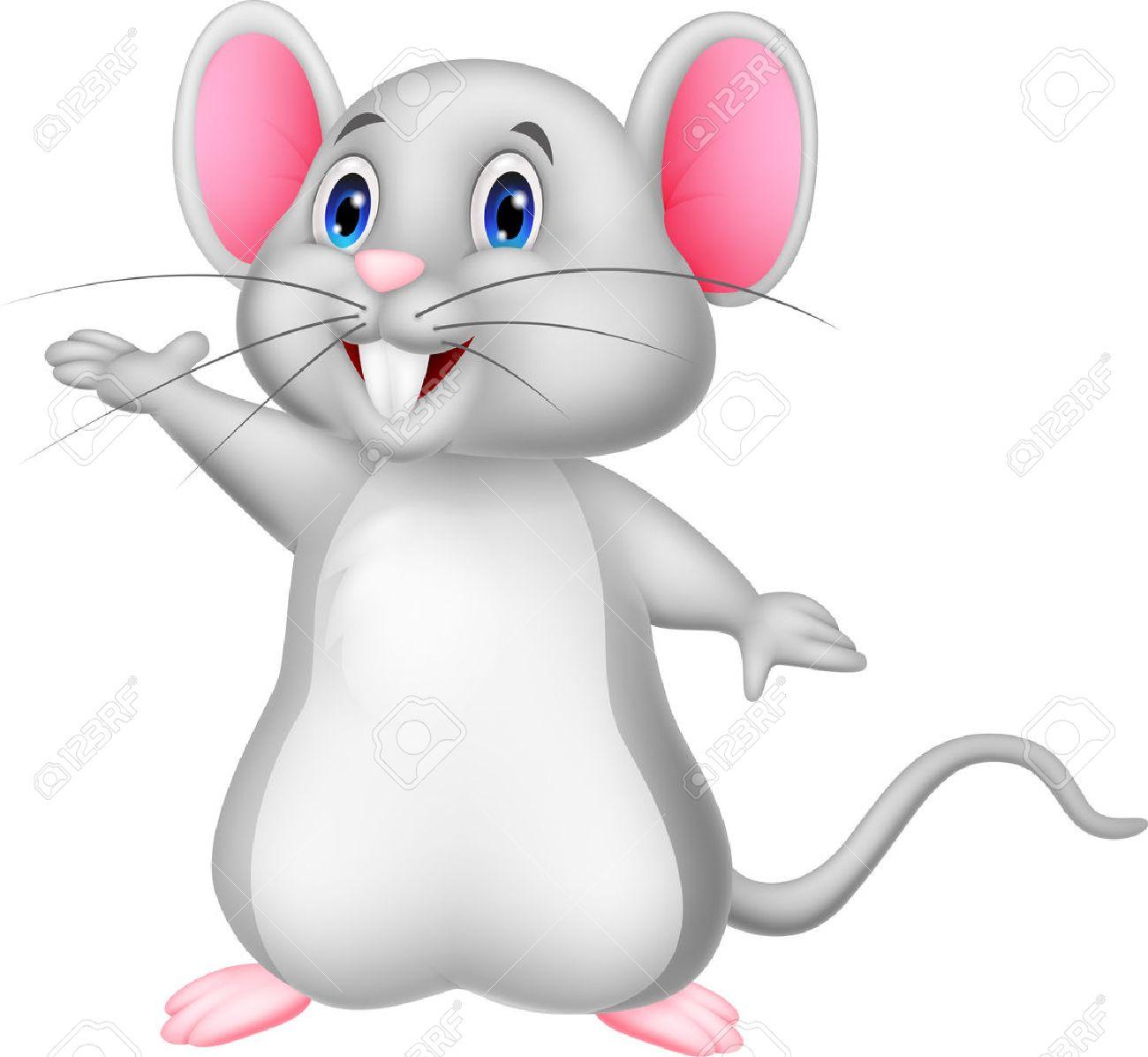 agitar lindo del dibujo animado del ratón ilustraciones vectoriales
