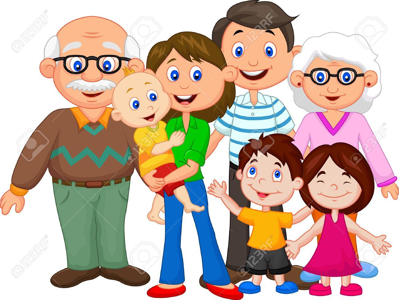 Happy cartoon family - 30337980