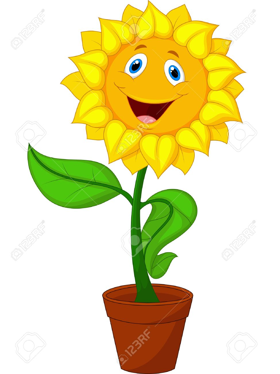 sunflower cartoon royalty free cliparts vectors and stock rh 123rf com sunflower cartoon pictures sunflower cartoon tumblr