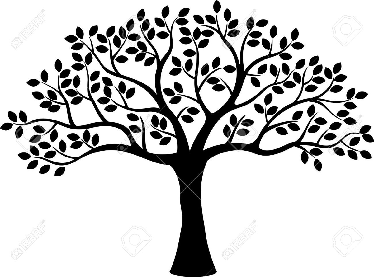 tree silhouette royalty free cliparts vectors and stock rh 123rf com free vector tree brush free vector tree art
