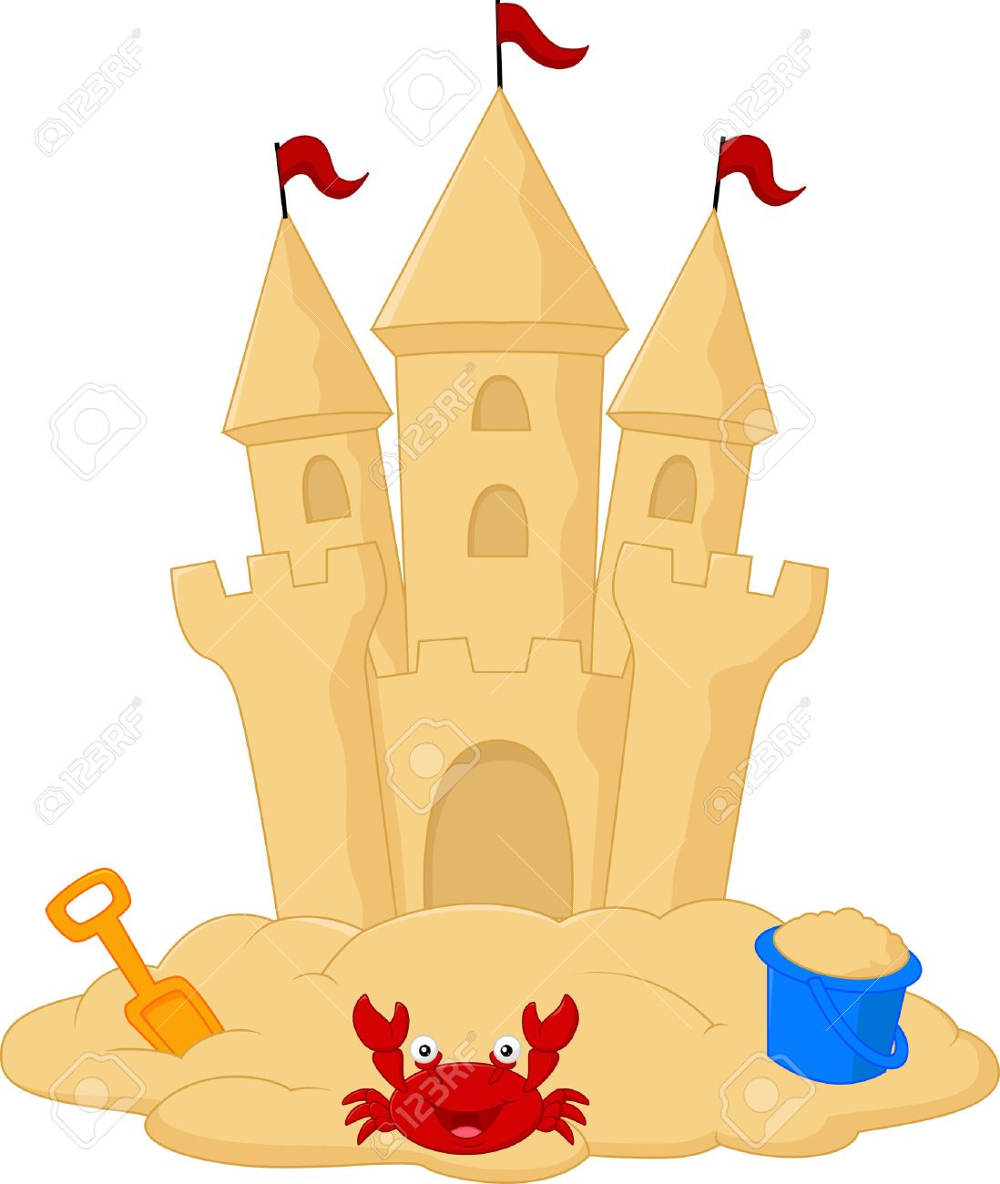 sand castle cartoon royalty free cliparts vectors and stock rh 123rf com sand castle clipart png sand castle clipart png