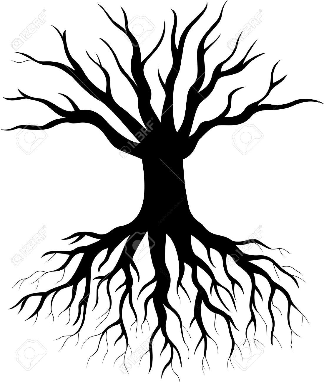 Tree Silhouette Cartoon Royalty Free Cliparts Vectors And Stock Illustration Image 33367725 Watch and download a tree with deep roots with english sub in high quality. tree silhouette cartoon