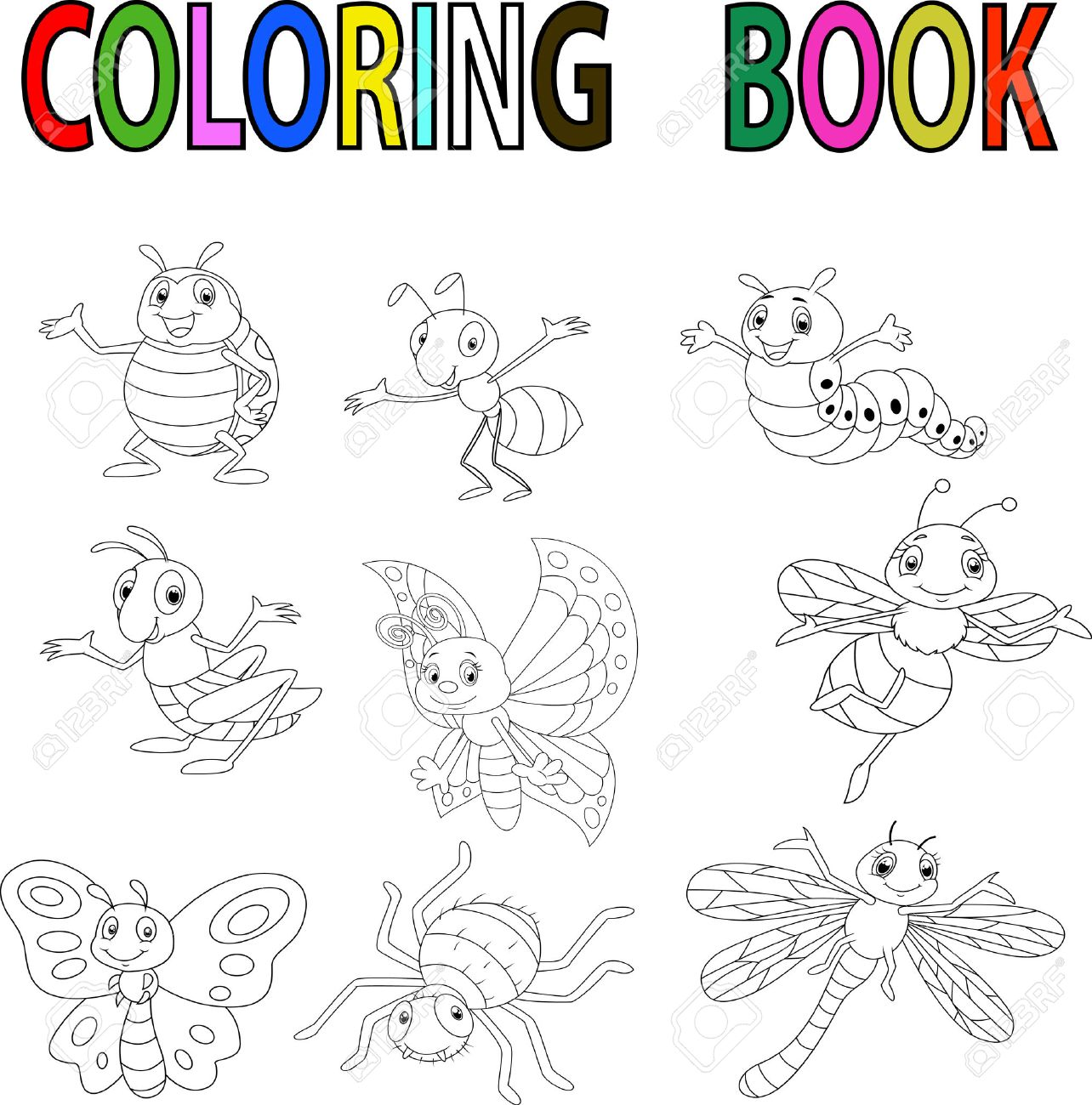 Increíble Insecto De Rayo Para Colorear Adorno - Ideas Para Colorear ...