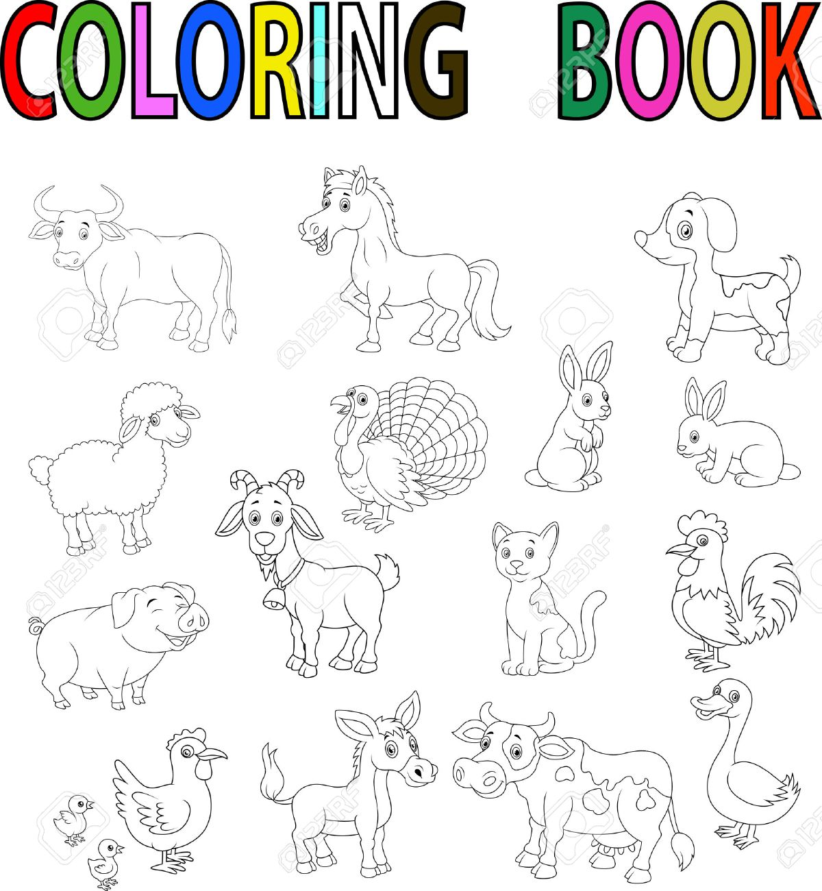 Granjas Para Colorear. Affordable Animales De Granja Para Colorear U ...