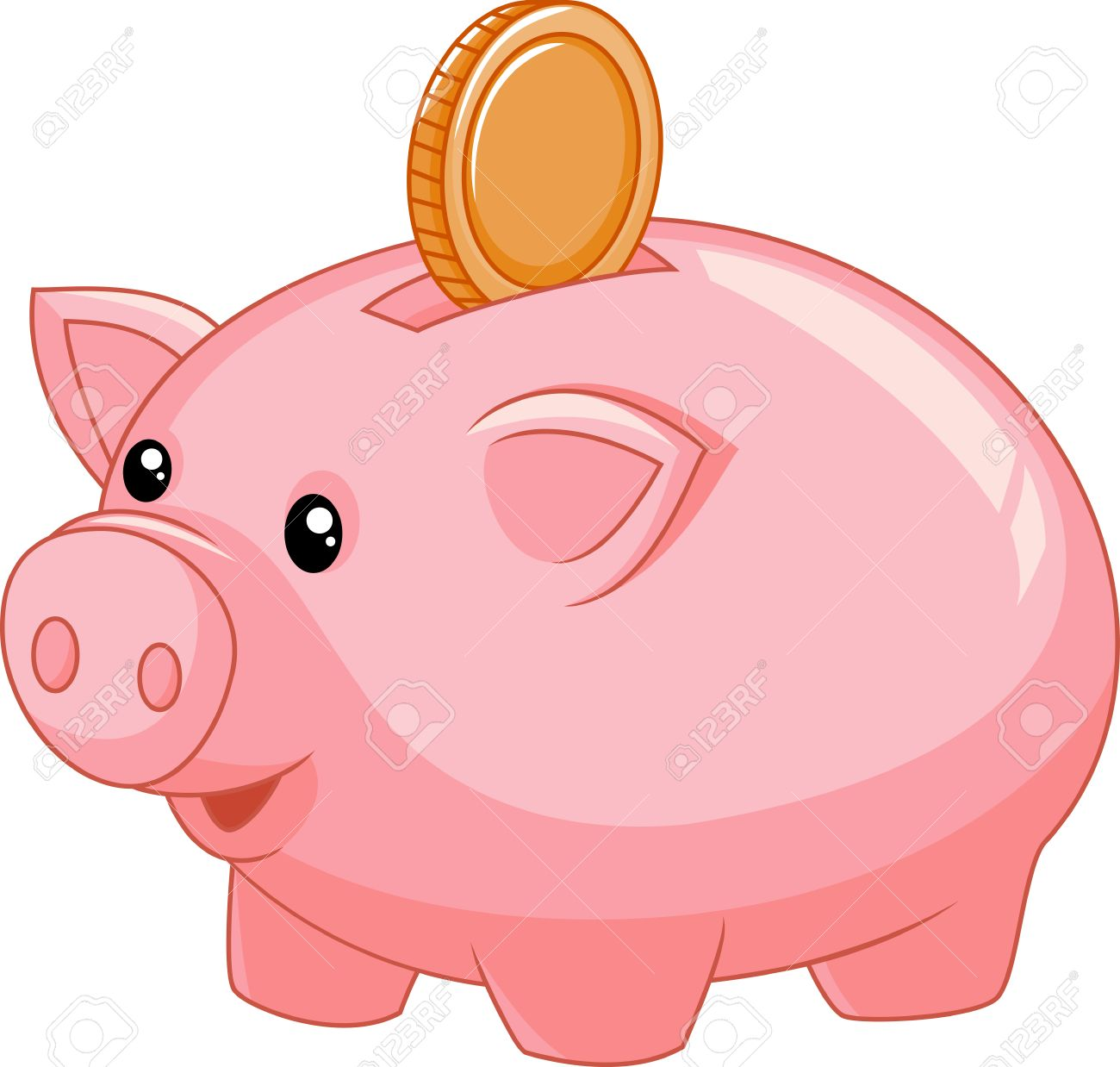 piggy bank cartoon with coin royalty free cliparts vectors and rh 123rf com piggy bank clipart free piggy bank clip art for free