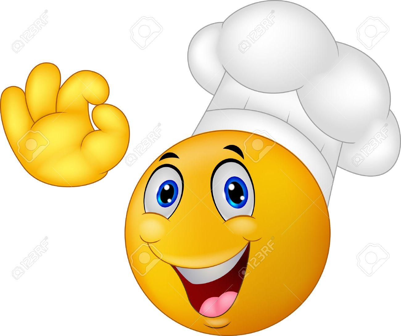 Resultado de imagen de carita sonriente gorro cocinero