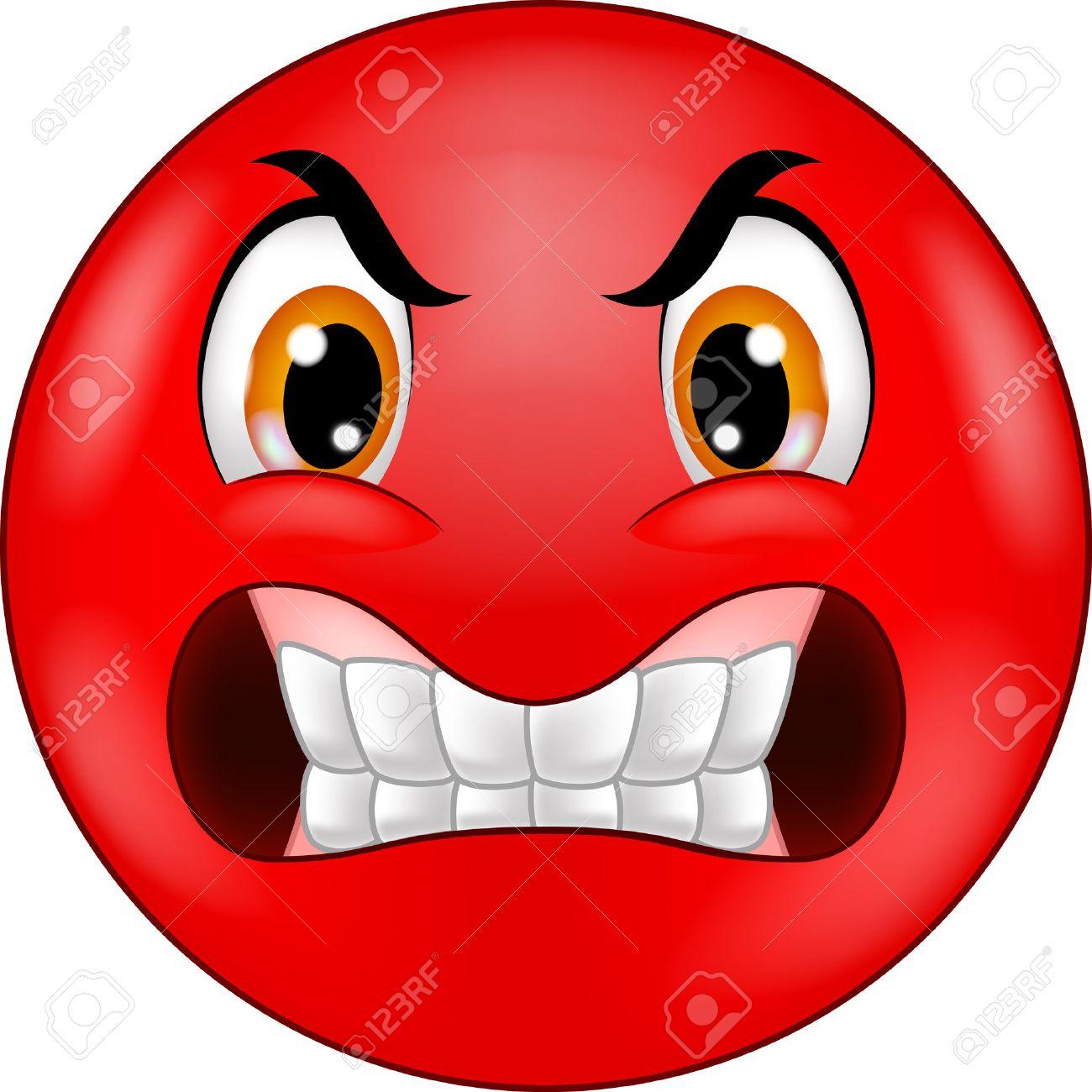 Angry Smiley Dessin Anime Emoticone Clip Art Libres De Droits Vecteurs Et Illustration Image 33887330