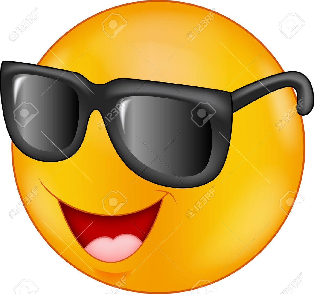 Dessin Lunettes De Soleil sourire dessin animé émoticône lunettes de soleil clip art libres de