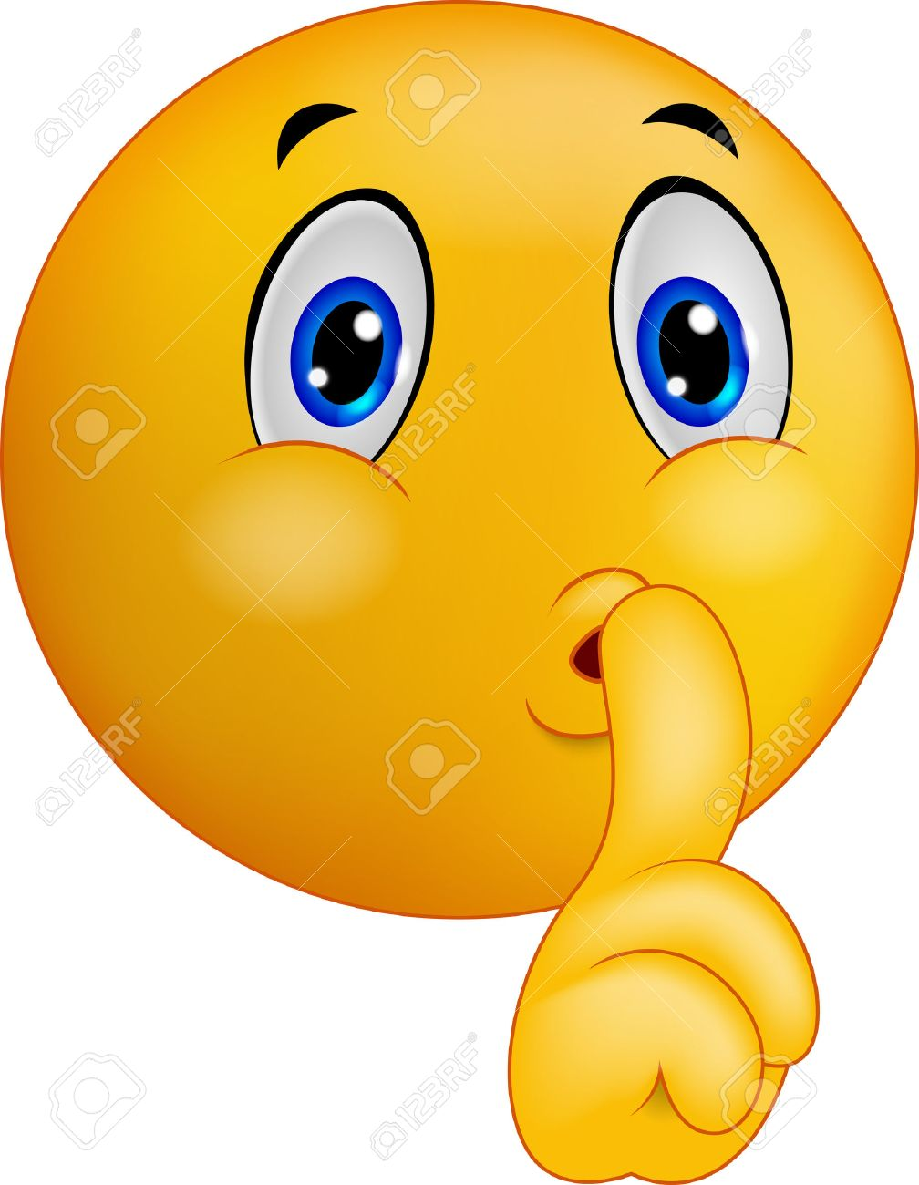 cartoon emoticon smiley making silence sign royalty free cliparts, vectors,  and stock illustration. image 34097535.  123rf