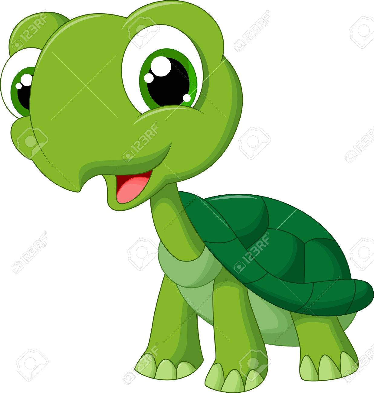 Cute Cartoon Turtle Royalty Free Cliparts, Vectors, And Stock ...