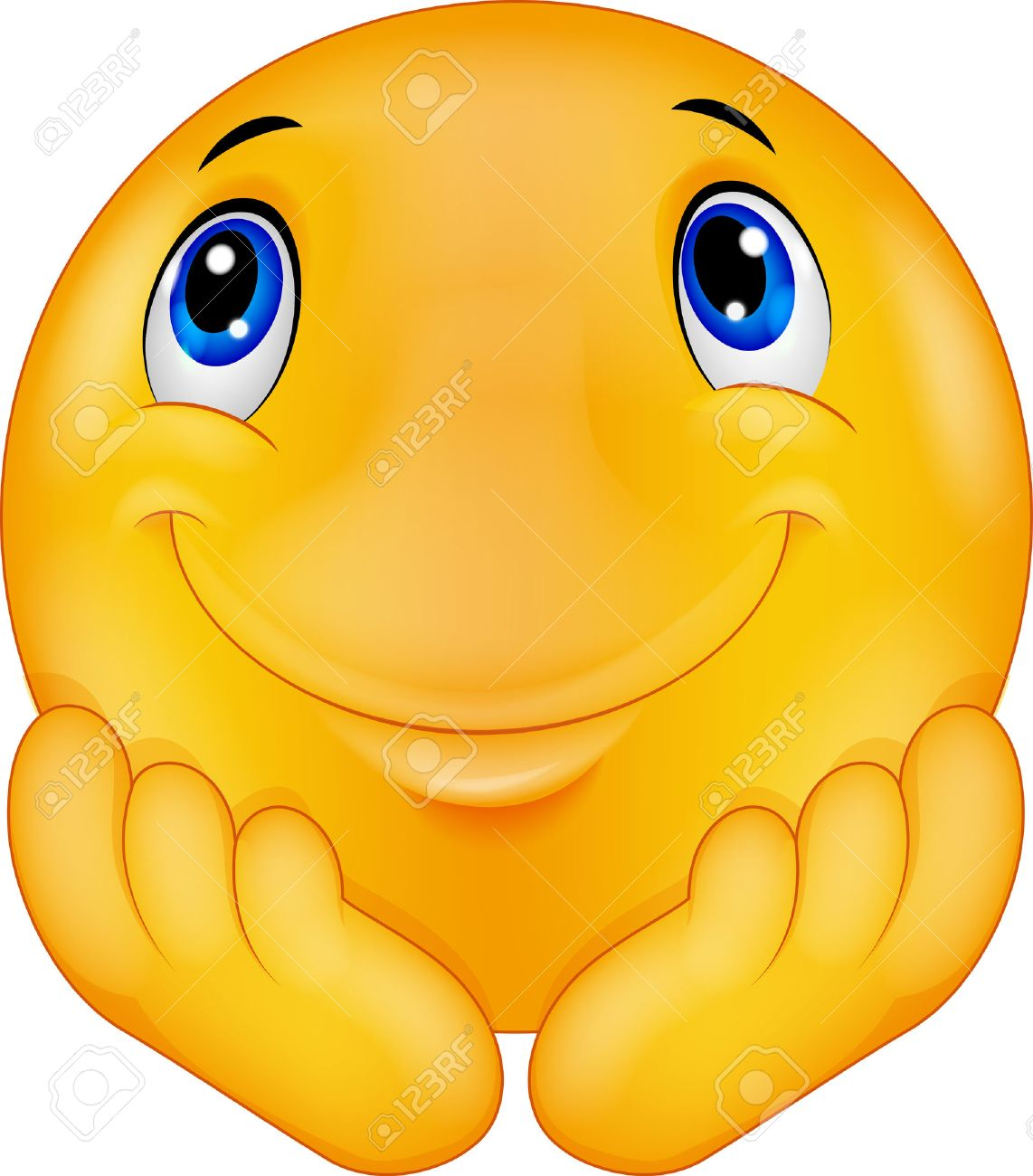 Happy face stock photos royalty free happy face images thinking emoticon smiley cartoon voltagebd Image collections