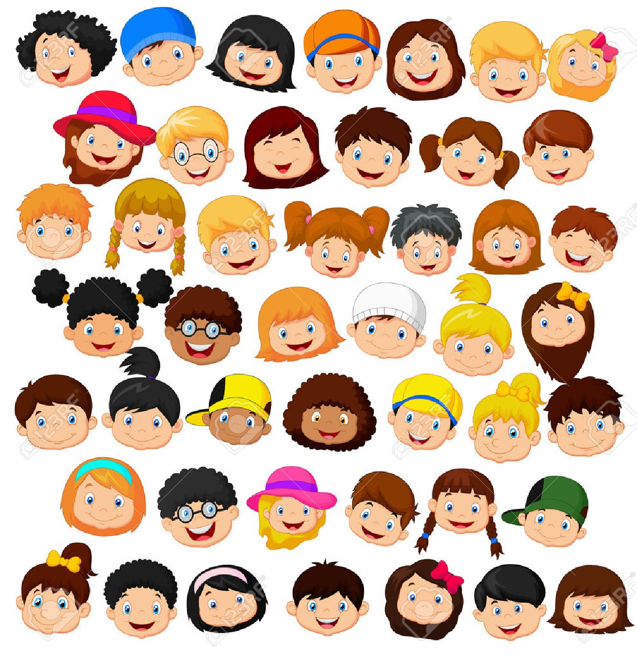 47,782 Kid Face Stock Vector Illustration And Royalty Free Kid ...