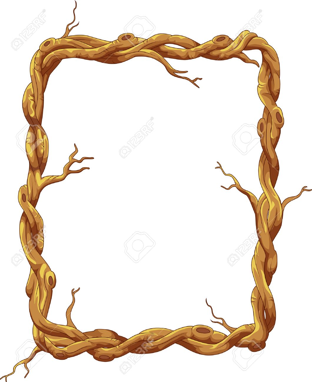 Frame cartoon made of tree trunk and branches royalty free frame cartoon made of tree trunk and branches stock vector 36776707 jeuxipadfo Choice Image