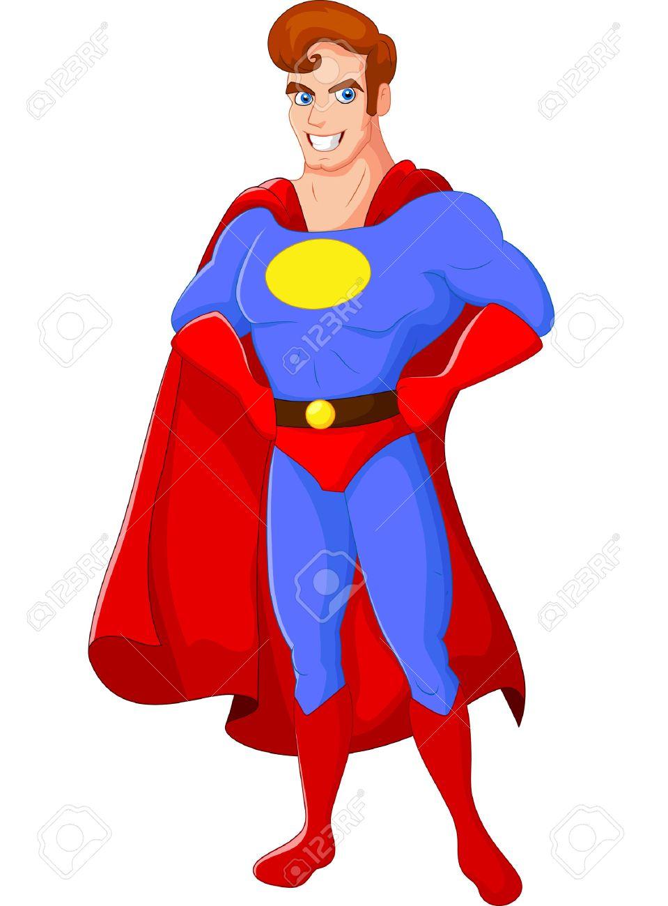 Cartoon Male Superhero Posing Royalty Free Cliparts Vectors And Stock Illustration Image 37538353