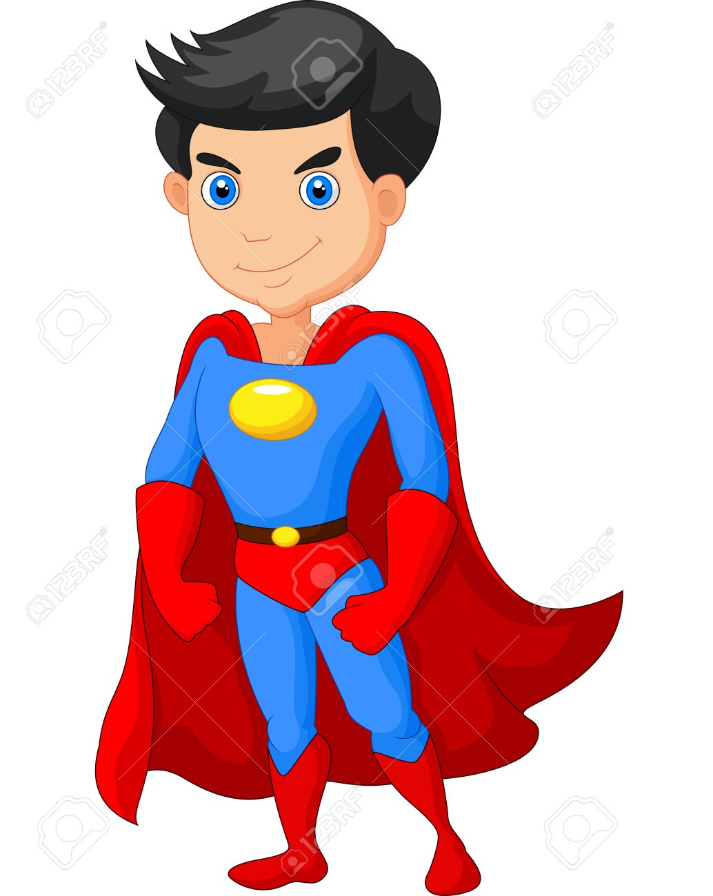 Cartoon Super Hero Boy Posing Royalty Free Cliparts Vectors And Stock Illustration Image 38817156