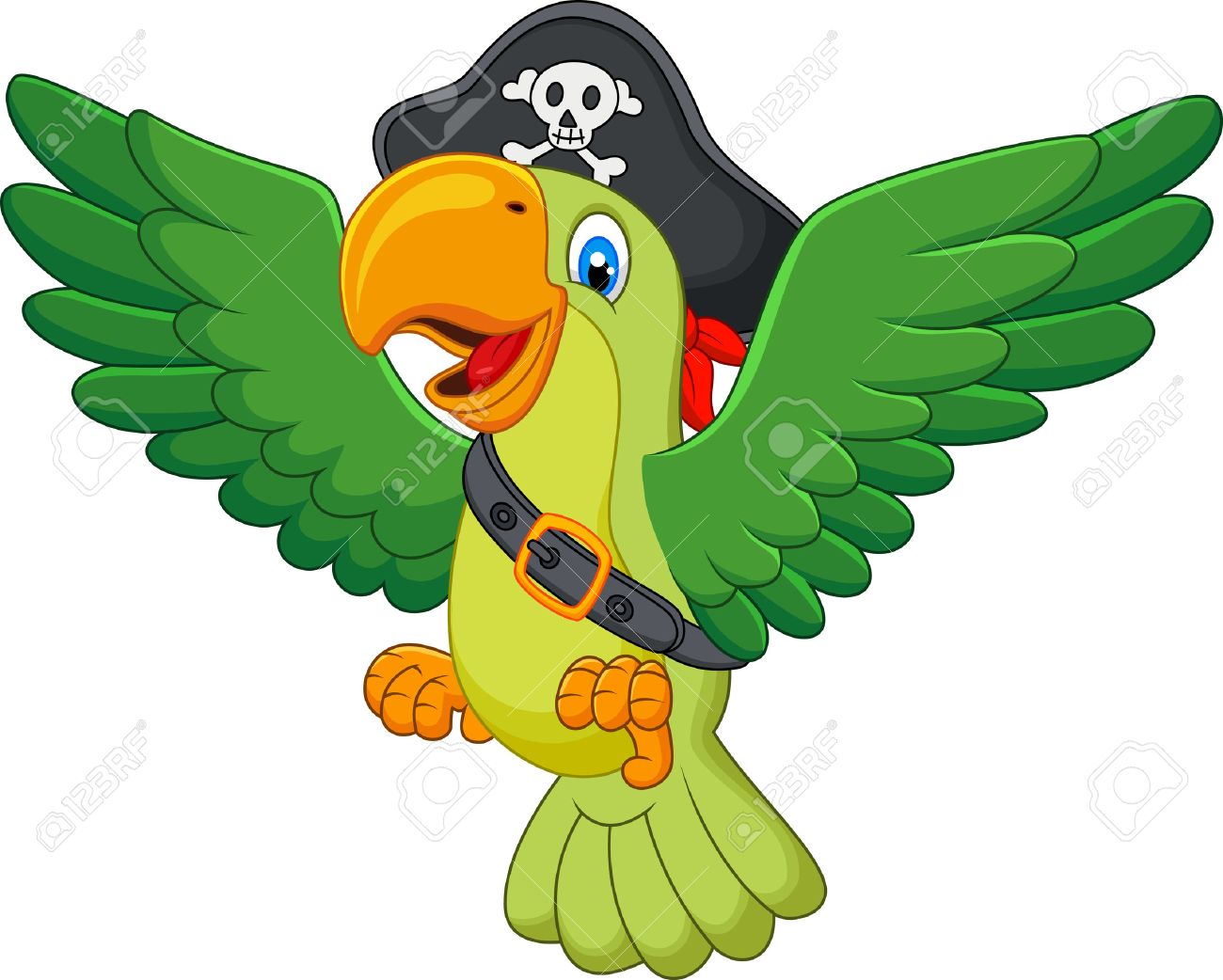 banque dimages cartoon pirate perroquet