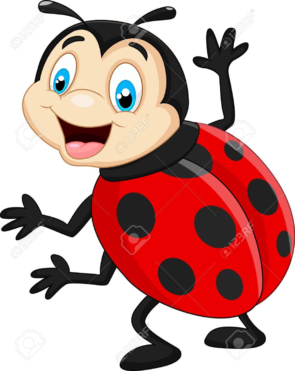 Cartoon Coccinelle Agitant Clip Art Libres De Droits , Vecteurs Et ...