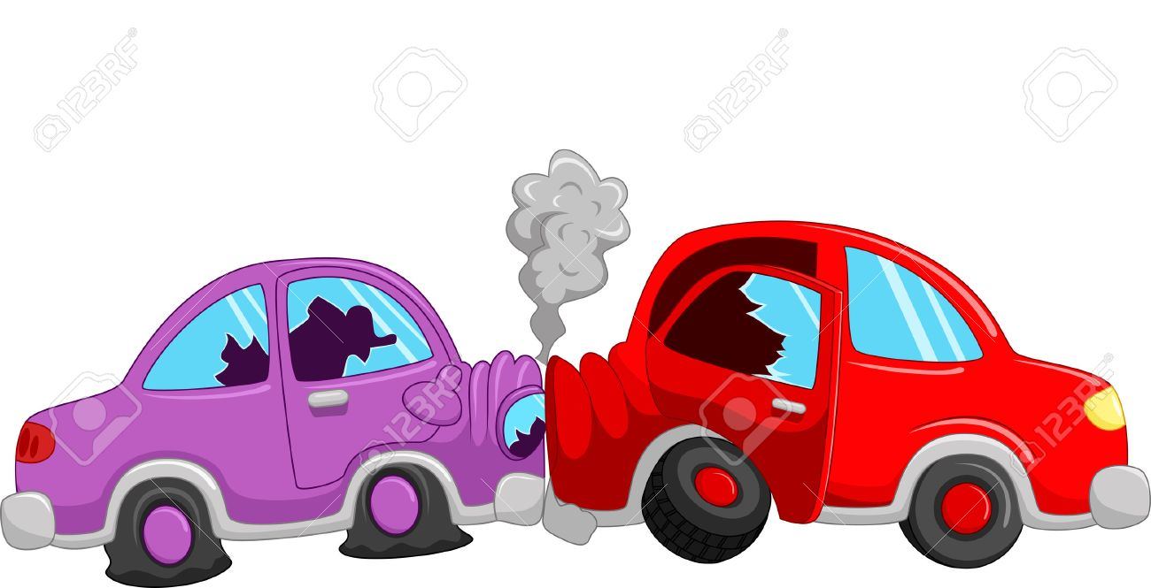 cartoon car accident royalty free cliparts vectors and stock rh 123rf com cartoon car crash derby cartoon car crashing
