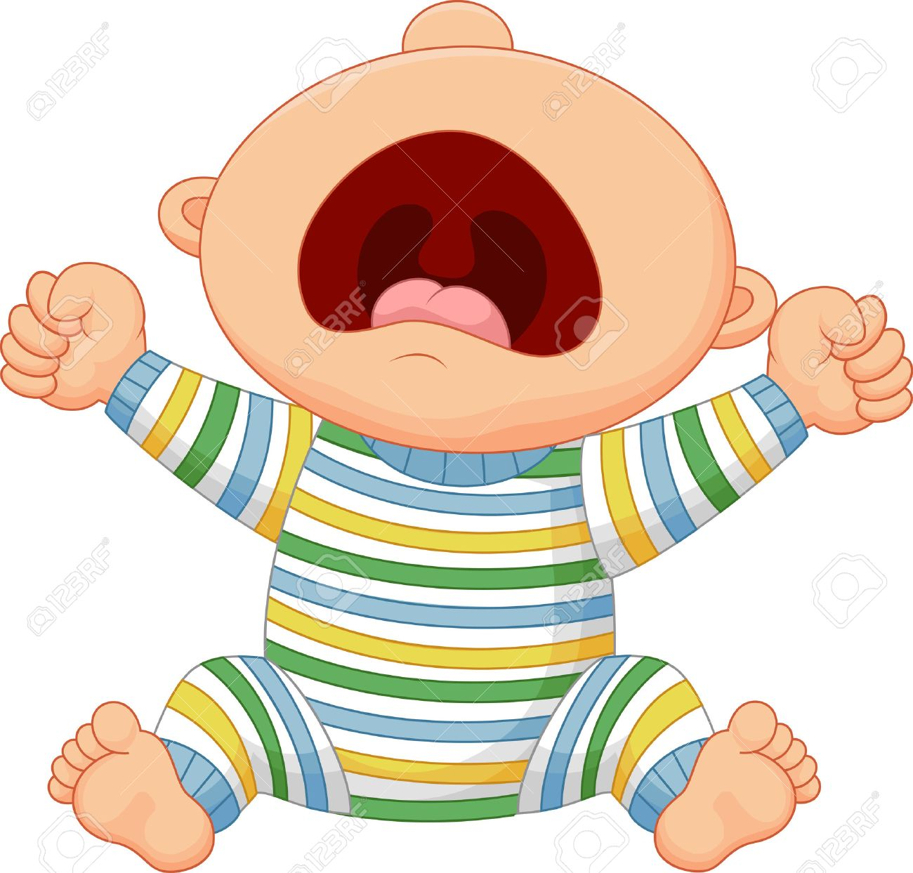 Cartoon Baby Boy Crying Royalty Free Cliparts Vectors And Stock Illustration Image 41384991