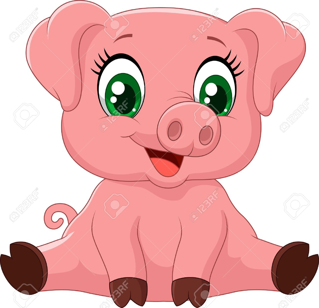 3,065 Pig Tails Stock Vector Illustration And Royalty Free Pig Tails ...
