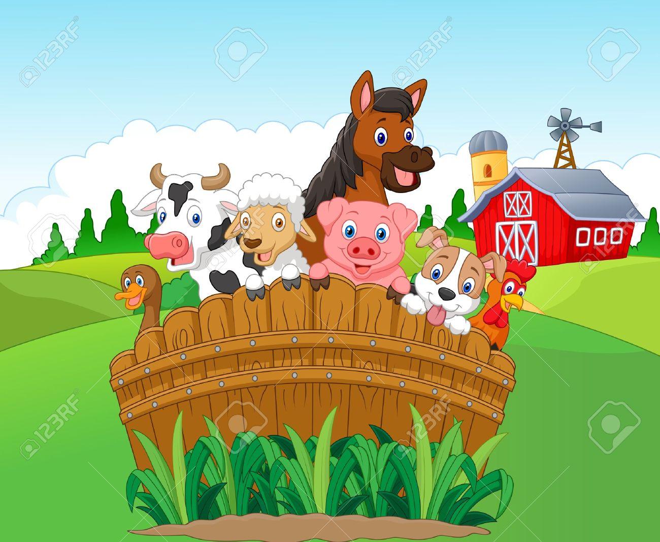 Collection farm animals Stock Vector - 44236002