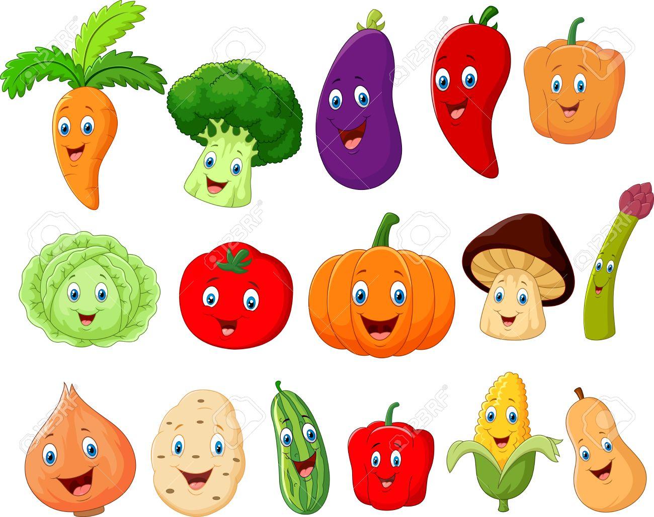 かわいい野菜キャラクター ロイヤリティフリークリップアート