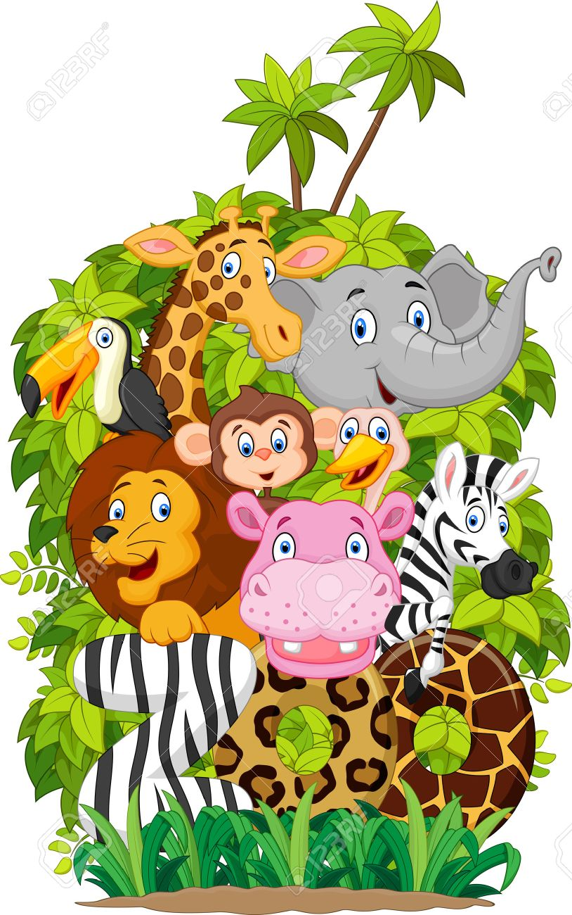 Cartoon collection animal of zoo Stock Vector - 45091776