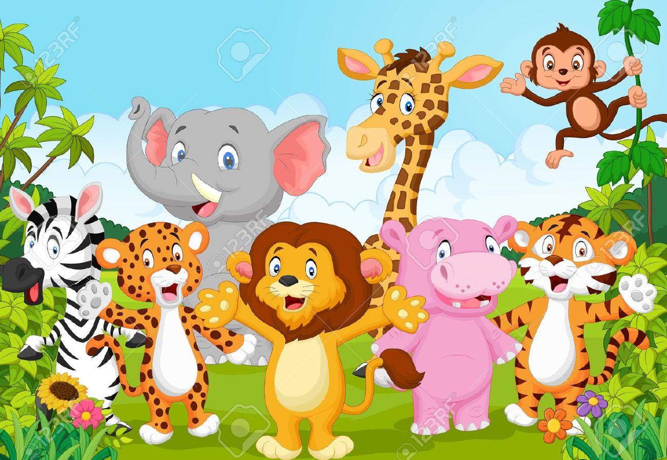 Cartoon happy little animal Stock Vector - 45091986