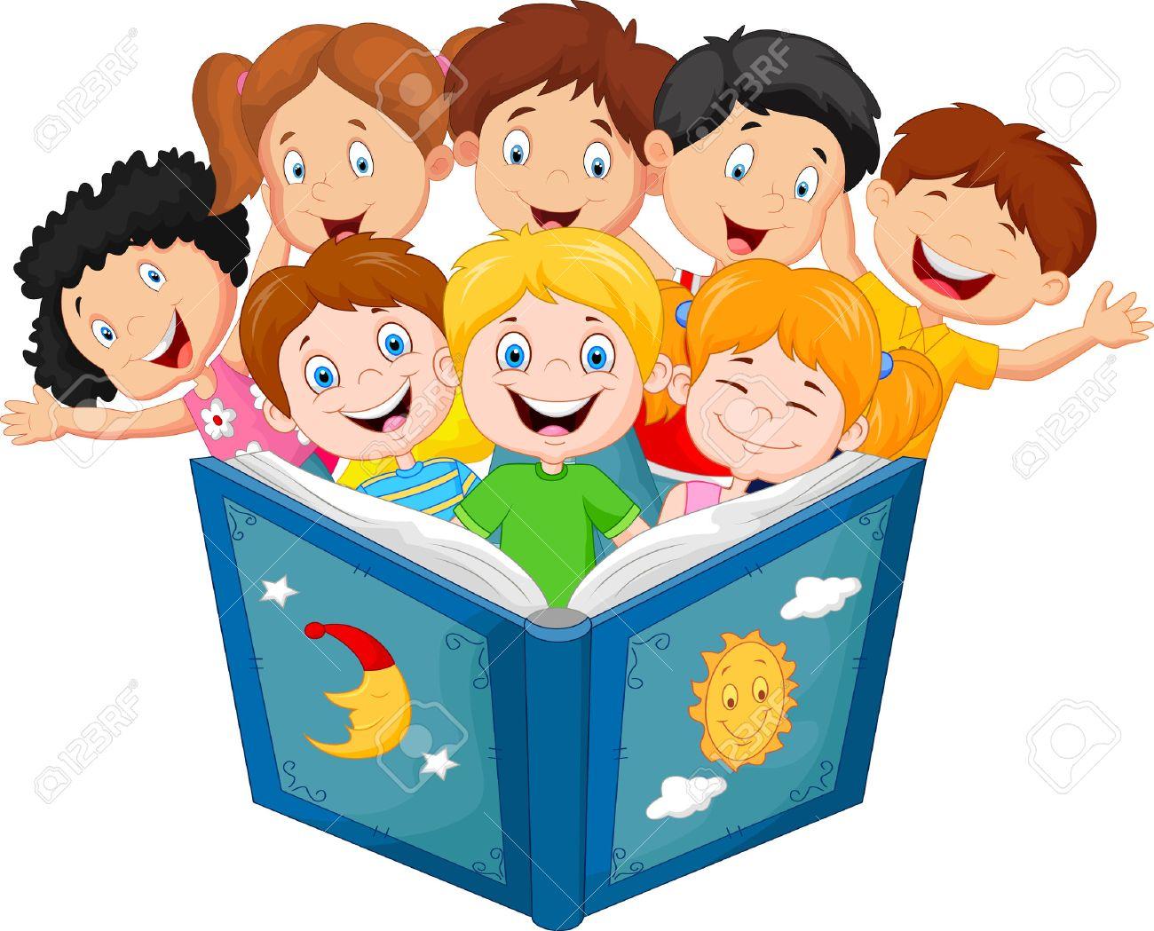 Libro De Lectura Del Nino Pequeno De Dibujos Animados Ilustraciones