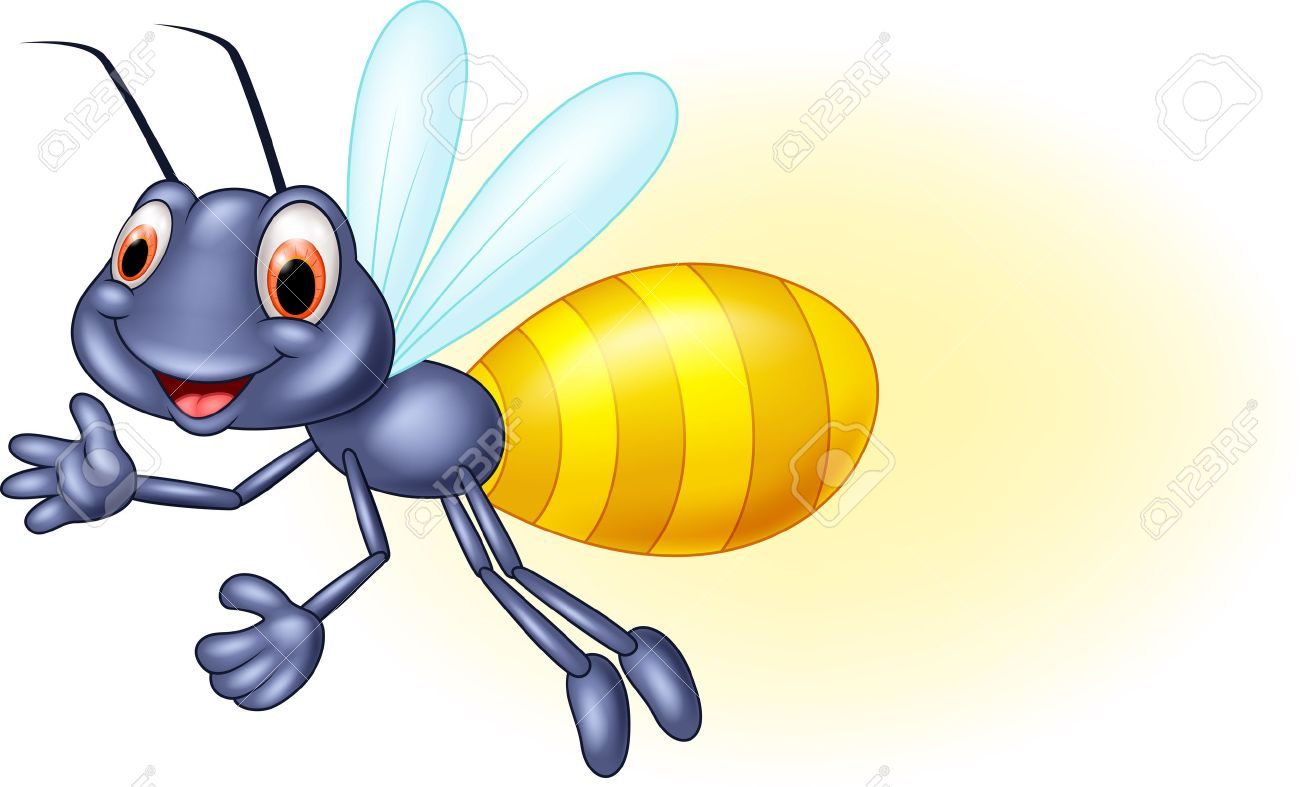 adorable firefly cartoon waving royalty free cliparts vectors and rh 123rf com