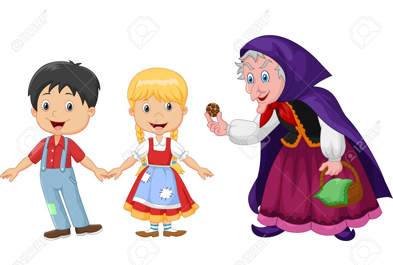 illustration of classic children story hansel and gretel with rh 123rf com hansel and gretel witch clipart clipart hansel and gretel