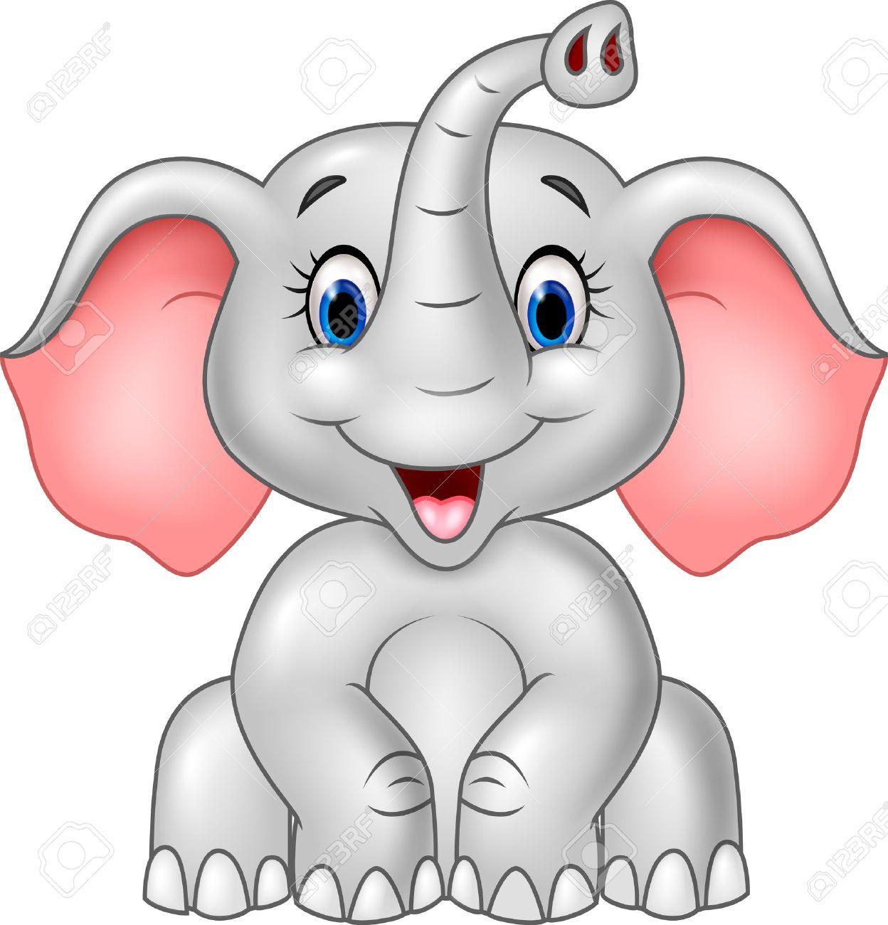 Excepcional Lindo Elefante Bebé Para Colorear Molde - Enmarcado Para ...