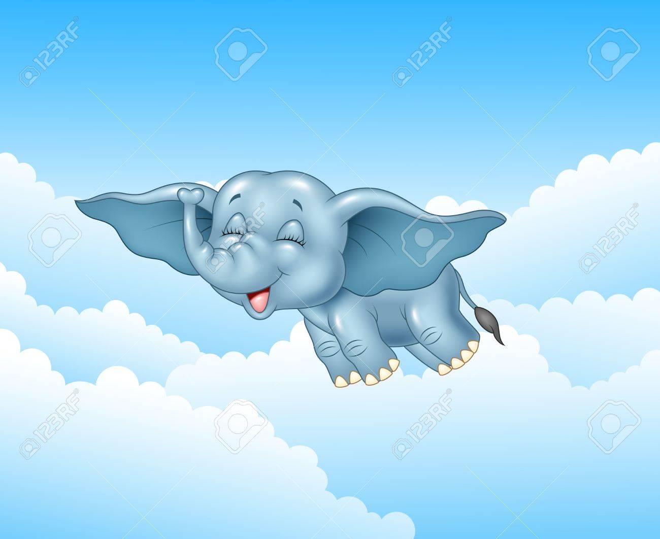 Je m'en sépare - Page 4 46873964-vector-illustration-de-mignon-b%C3%A9b%C3%A9-%C3%A9l%C3%A9phant-volant-sur-fond-de-nuage