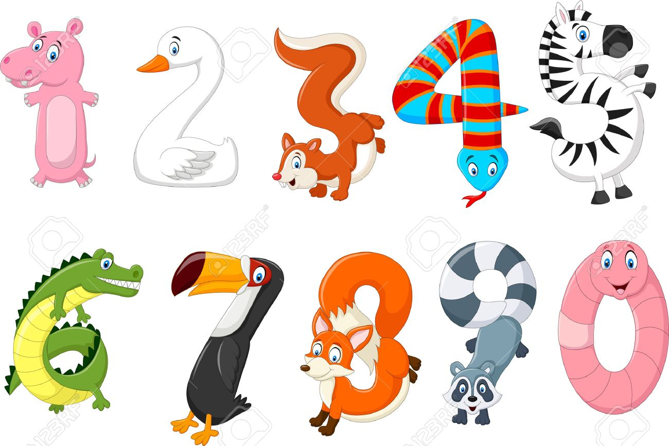 Vector illustration of number with a animal concept Stock Vector - 47614304