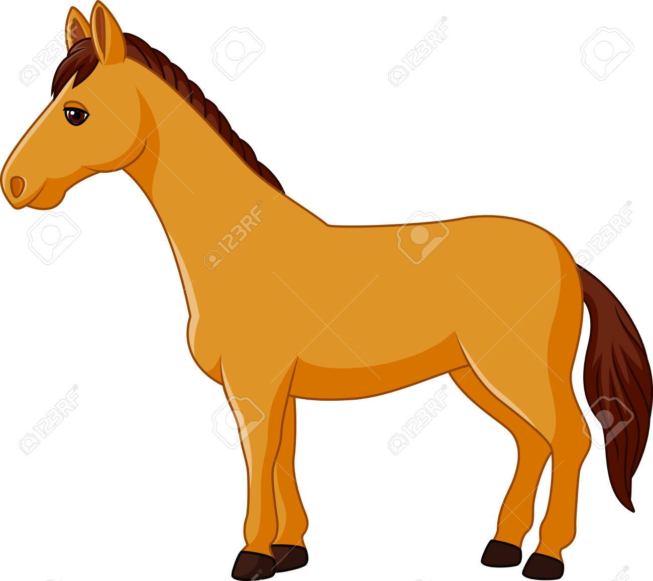 Vector Illustration Of Cartoon Horse Character Isolated On White Royalty Free Cliparts Vectors And Stock Illustration Image 52421615