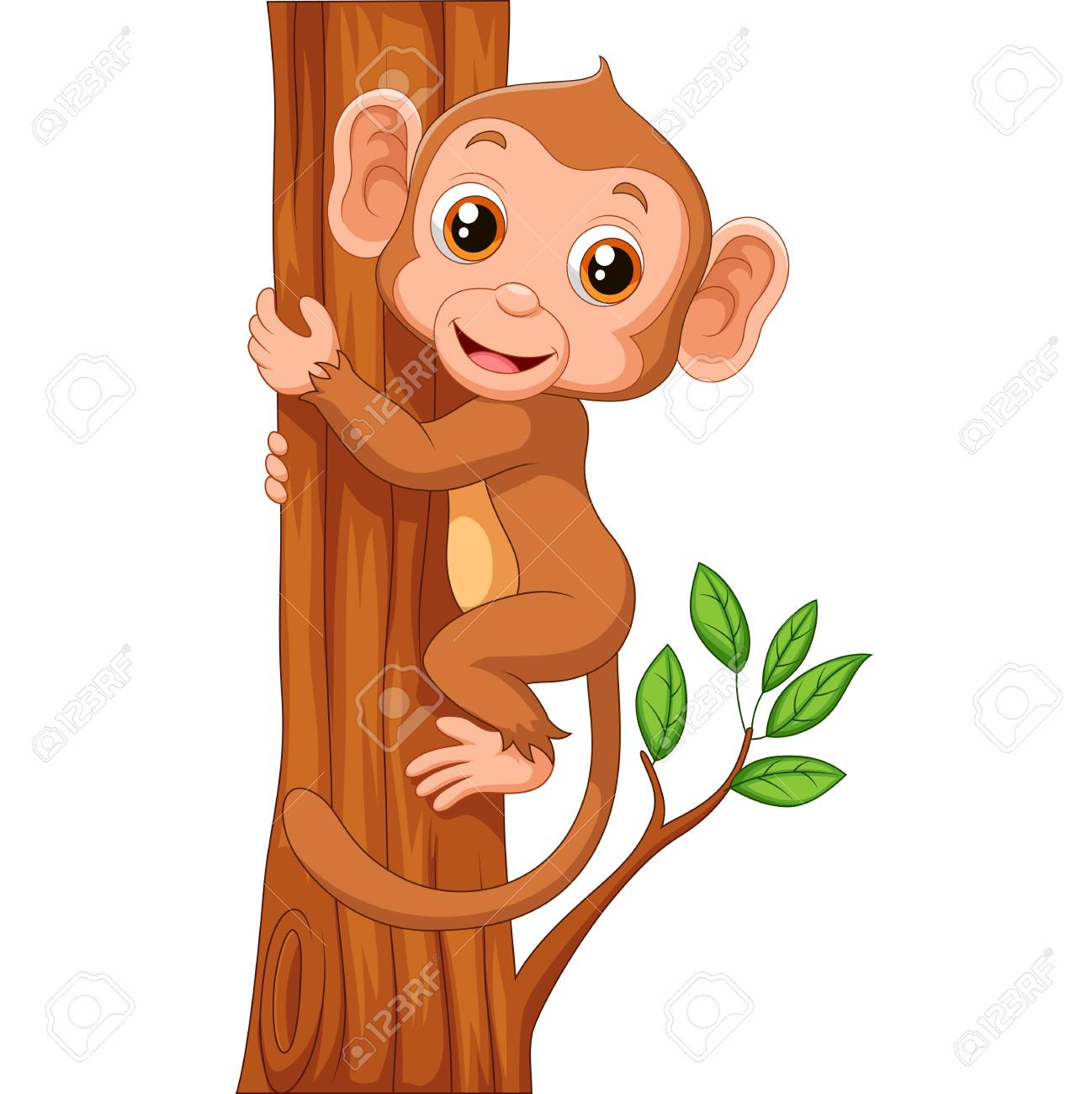 Monkey Cartoon Free Photo Png Clipart - Cartoon Monkey Hanging From Tree -  786x1027 PNG Download - PNGkit