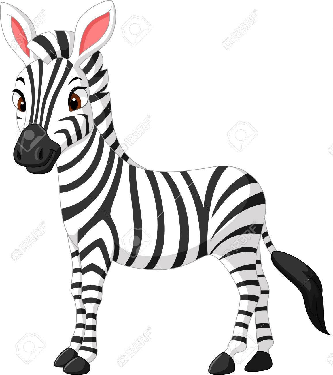 illustration of cute zebra cartoon royalty free cliparts vectors rh 123rf com Cartoon Giraffe free zebra cartoon images