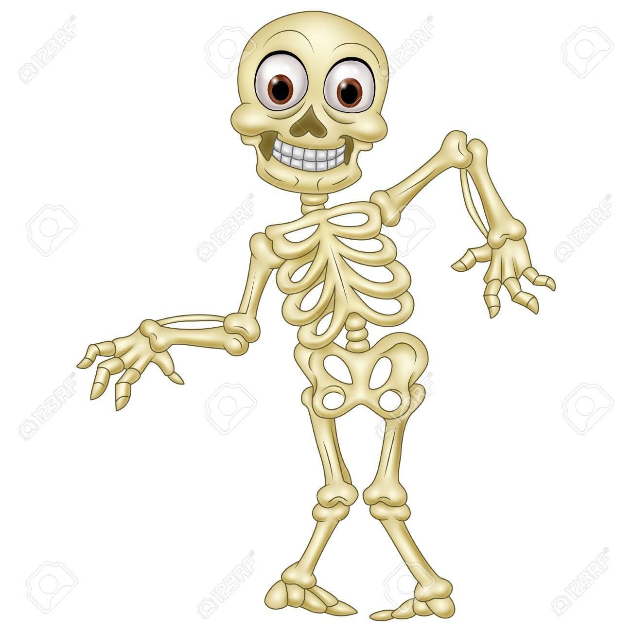 Halloween Skeleton.Illustration Of Halloween Skeleton