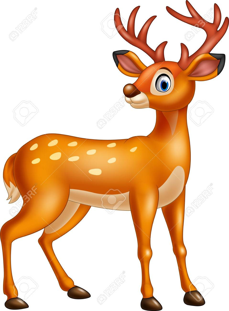 Illustration Of Cartoon Deer Isolated On White Background Royalty