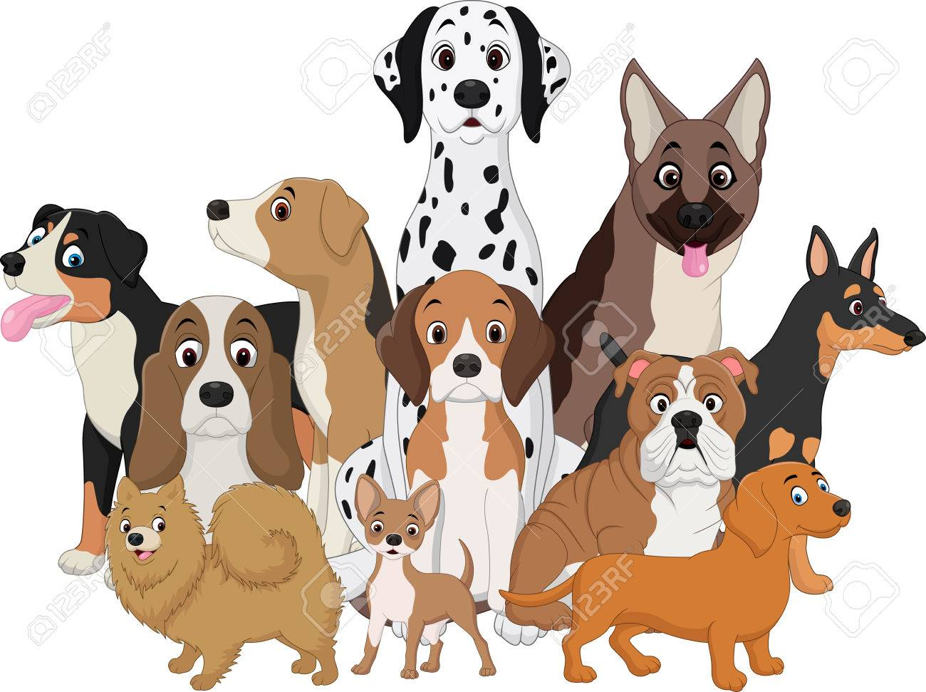 Image of: Png Illustration Of Set Of Funny Dogs Cartoon Stock Vector 69363160 123rfcom Illustration Of Set Of Funny Dogs Cartoon Royalty Free Cliparts
