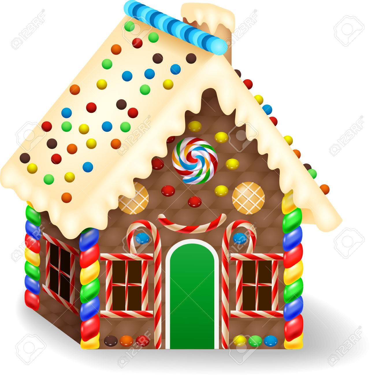 cartoon gingerbread house royalty free cliparts vectors and stock rh 123rf com cartoon gingerbread house pictures Simple Gingerbread House Cartoon