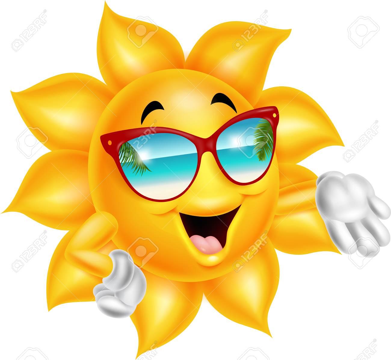 9eba50453b Cartoon cartoon sun character wearing sunglasses Stock Vector - 83320512